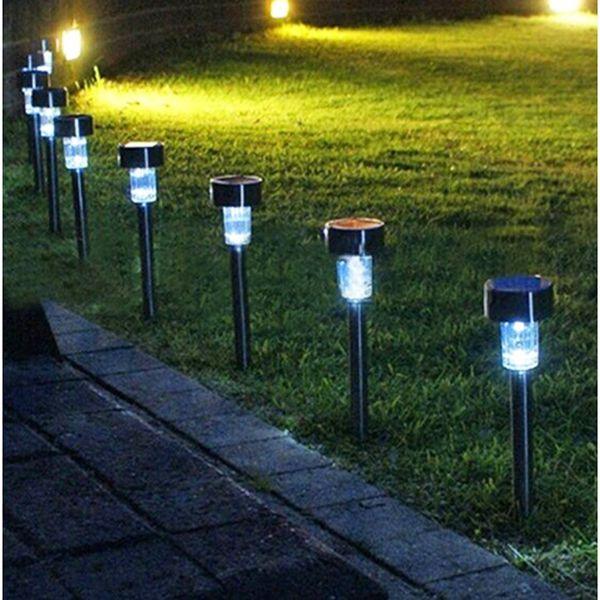 De De Solares Llight Calidad LED Lámparas Colorfull Para Jardín Inoxidable Decoración A Compre La Luces Acero Solar Impermeable Jardín Alta Patio bvmYy7gfI6