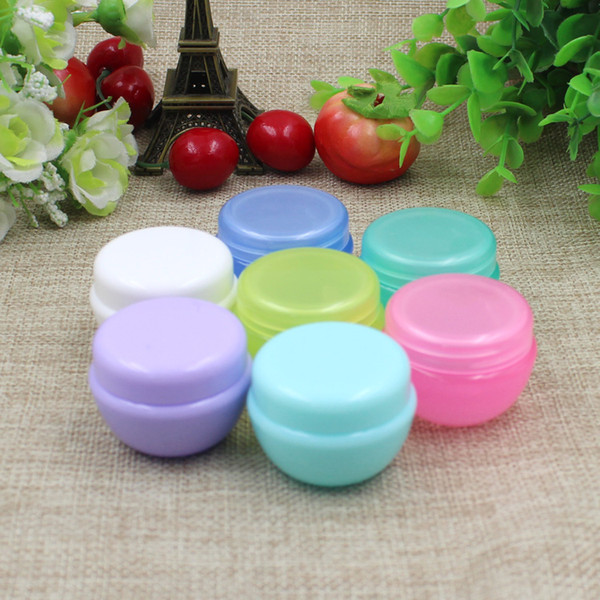 Free shipping 100pcs/lot 10g empty cosmetic cream PET jars with plastic lids,5g/10g clear cream containers for cosmetics,empty plastic jar