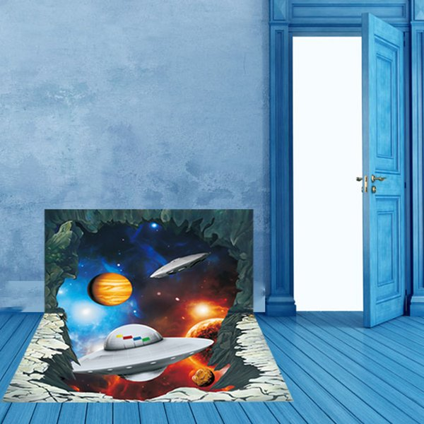 AW3027 3D Wall Sticker New Planet Spaceship Affixed Decals For Kids Rooms Wall Stickers Home Decor Sticker