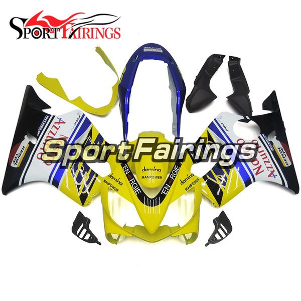 Full Motorcycle Plastics ABS Injection Fairing Kits For Honda CBR600 F4i 2004-2007 Year 04 05 06 07 Fairings Nastro Yellow Blue Cowling
