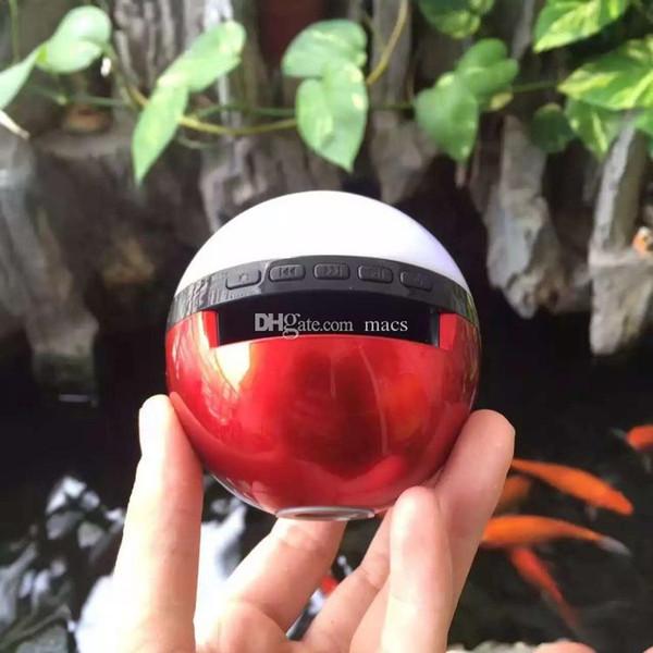 Poke Mon Bluetooth Speaker Colorful Night Light LED Dance Magic Pokeball Elves Ball Wireless Stereo Music TF card MP3 Subwoofer