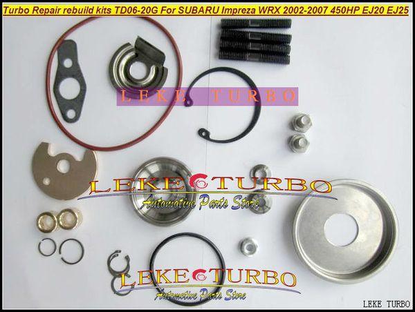 Turbo Tamir Takımları yeniden kit kiti Için TD06 20G TD06-20G TD06-20GHW SUBARU Impreza WRX 2002-07 MAX HP 450HP Motor EJ20 EJ25