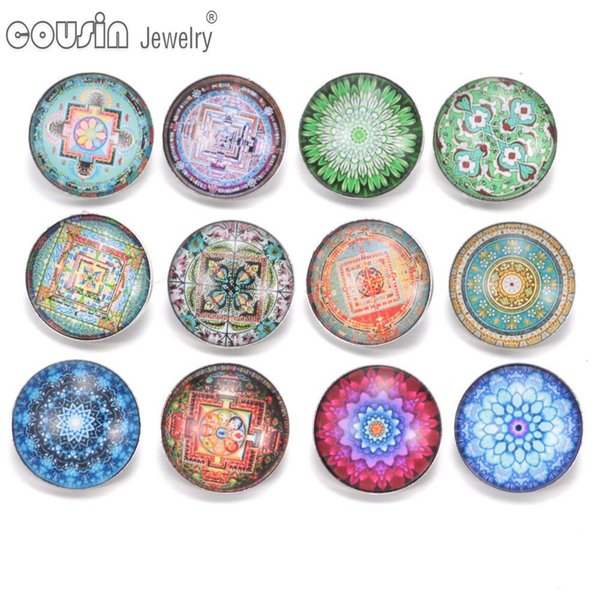 KZ0302 12pcs/lot Mixed Colors Exotic 18mm Snap Button Jewelry Faceted Glass Snap Fit DIY Bracelet&Bangles Interchangeable Snaps Jewelry