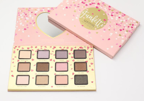 1 PCS Makeup Faced Makeup Funfetti Eyeshadow Palettes Brand 12 Color Cosmetics Make Up Eye Shadow Palettes Set Beauty Products Factory Price