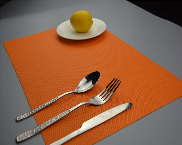 1PC 13 colors 30 * 45cm pvc placemat heat insulation pad napkin dining table mat coasters eco-friendly stocked JI 0809