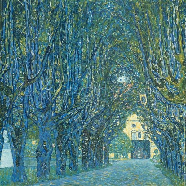 Berühmte Gustav Klimt-Garten-Malereien Viale Alberato handgemaltes Öl auf Segeltuchkunst für Wanddekor