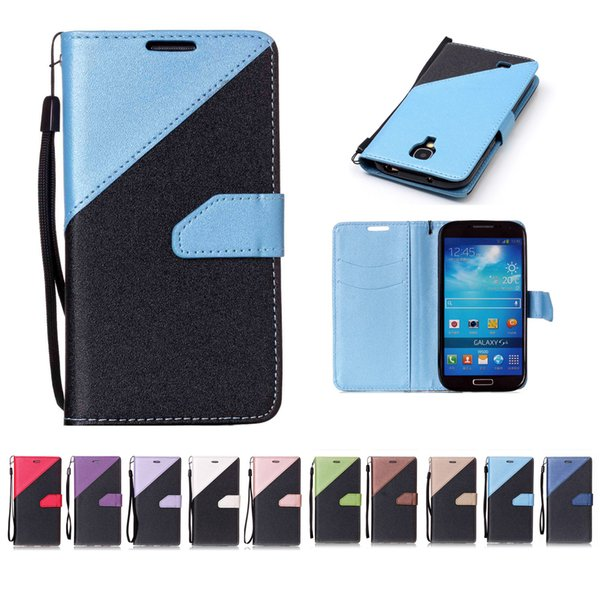 For Samsung Galaxy S4 Wallet Cases Covers PU Leather with Card Slot Hand Strap Sand Beach Surface Design
