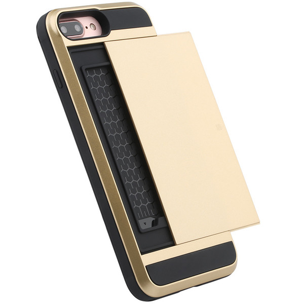 For Samsung Galaxy S7 Edge S6 Edge Plus S5 S4 S3 Luxury Card Slot ID Cash Pocket Hard Defender Armor Cases Factory Price