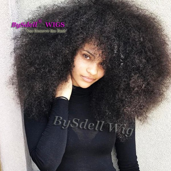 Afro Fluffy Kinky Curly Big Hair Wig Synthetic African Black Women Spherical Hairstyle Lace Front Wigs For Black Women Dreadlock Wigs Malaysian Lace