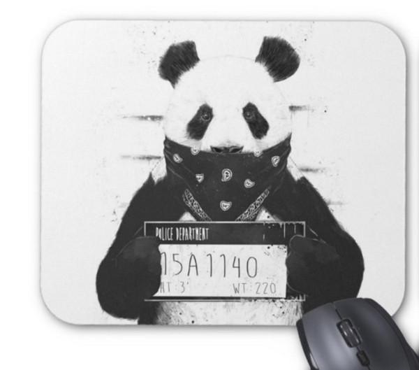 Rectangular tapete de borracha natural antiderrapante mau panda computador acessórios de escritório material de escritório mouse pad de presente