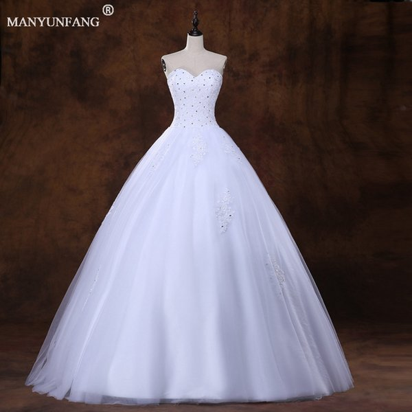 Real Pictures Beach Wedding Dresses Tulle With Lace Wedding Dress ...