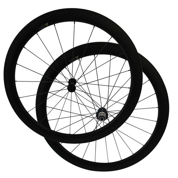 Only 1390g 700C full carbon road bicycle 50mm clincher wheels Powerway R13 Ceramic Bearing hub CN424 Spoke