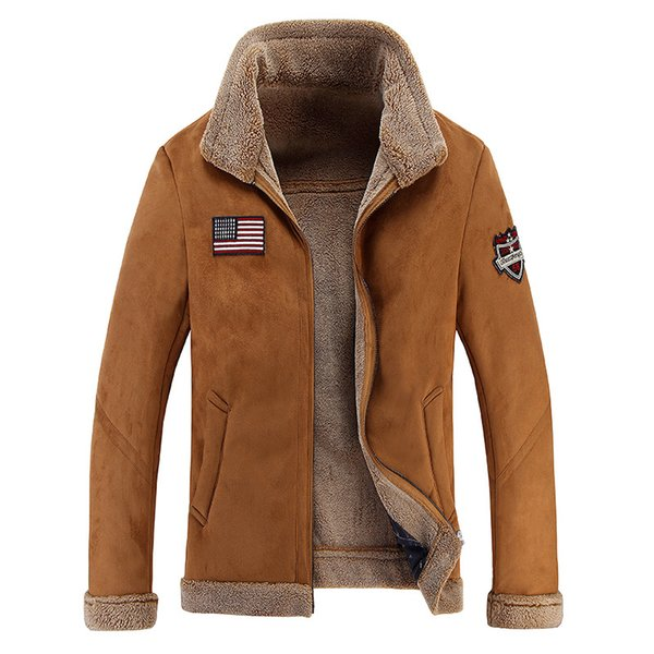 Wholesale free shipping Men's Air Force Bomber Basic Coats & Jackets Winter Man Thick Leather Jacket for Men Clothing Me