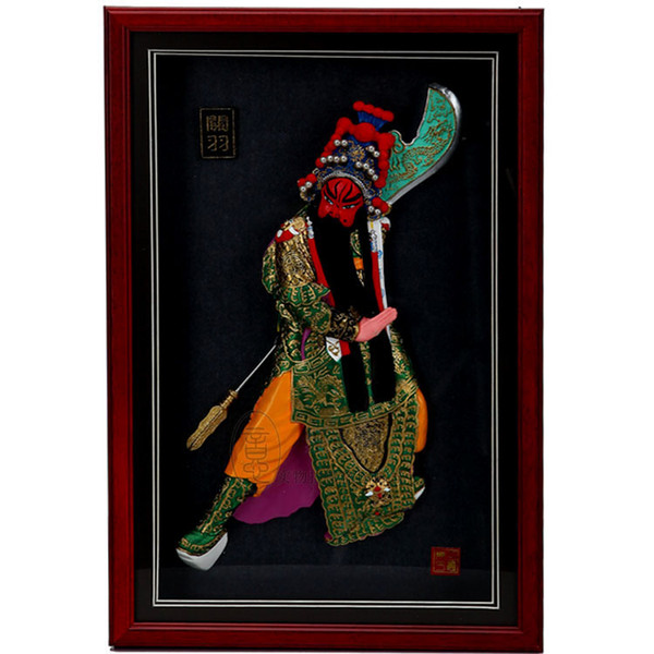 Guan Yu, three figures, relief pendants, creative photo frames, wall decorations, Chinese characteristics, business gifts