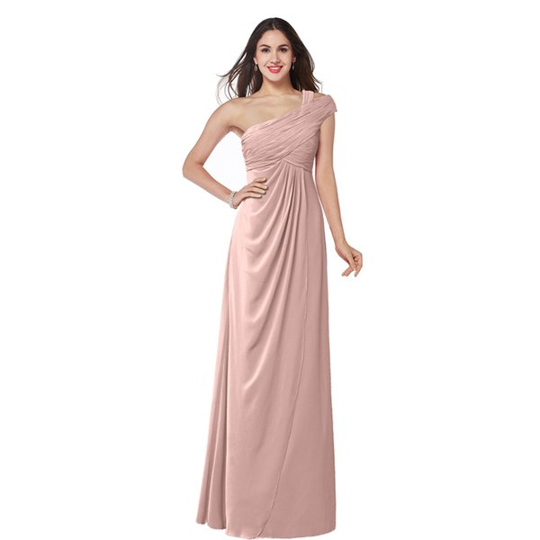 Four Styles for Choice Ladies Bridesmaid Dress Floor Length Competitive Price Zip Back Formal Gown European Design