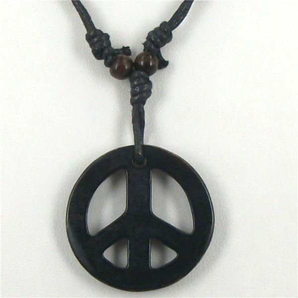 Atacado-1 pcs paz colares tibetano yak osso escultura paz totem pingentes talismãs colares moda charme jóias 2016 nova marca