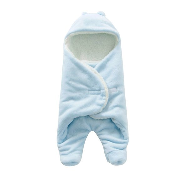 Newest Baby Swaddling Blankets Newborn Infant Soft Flannel Envelope thicker Swaddle from China