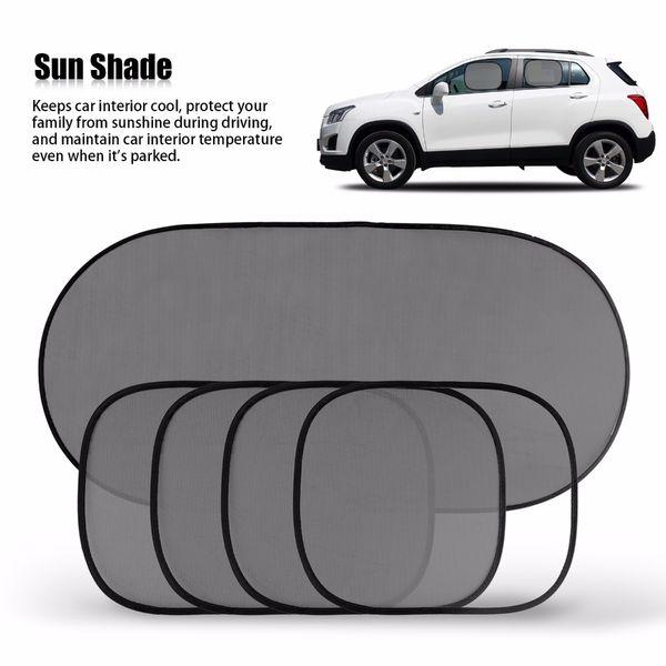 Hot Sale Black Car Window Sun Shade Car Windshield Visor Cover Block Front Window Sunshade UV Protect Car Window Film 5 Piece