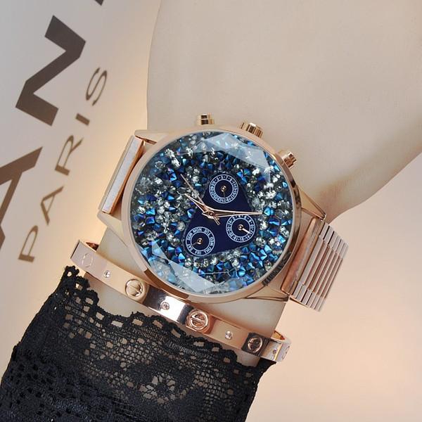 Mode Milisa Kleid Sterne Charming Große Luxus Romantische Diamant Stahl Zifferblatt Quarz Geschenk Damenuhren Großhandel Damenuhr Legierung Uhr CsQdrthx