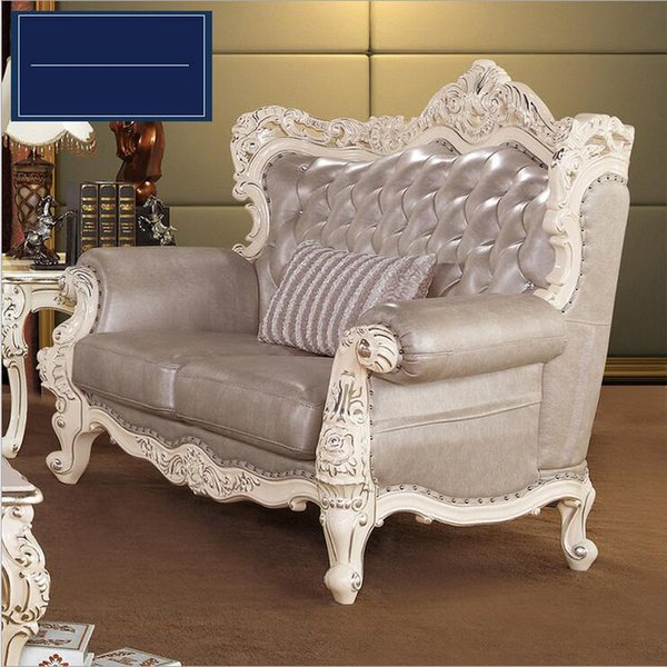 new arrival hot selling high quality European antique living room sofa furniture genuine leather set 10177