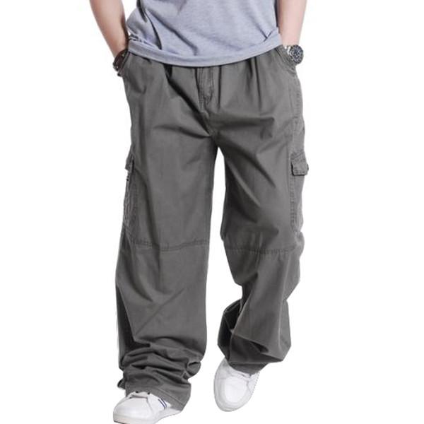 Großhandels-Plus Größe 3XL 4XL 5XL 6XL Hose beiläufige Mens Cargo Pants Frühling männliche Hip Hop lose Männer Hosen