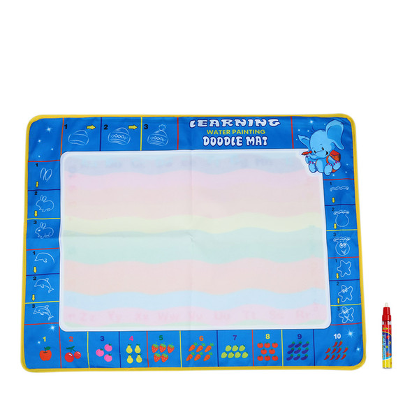 80 * 60 CM Non-toxic Drawing Board Water Drawing Mat With Magic Pen Board Painting and Writing Doodle for Baby Kids Drawing Toys