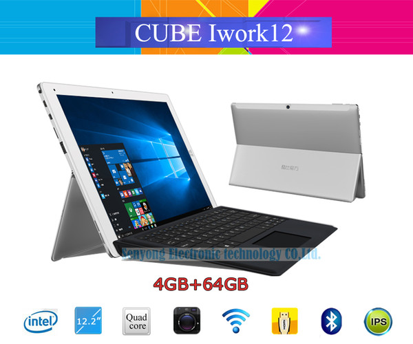 Wholesale- New Arrival 12.2'' IPS Cube Iwork12 Windows 10 Home + Android 5.1 Dual OS Tablet PC 1920x1200 Intel Atom X5-Z8300 Quad Core HDMI