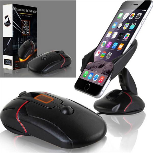 360 Grad Universal im Auto-Armaturenbrett-Zellen-Handy GPS-Einfassungs-Halter 1pcs Standplatz-Aufnahmevorrichtung für iPhone 5 6 6S Galaxie S4 S5 S6