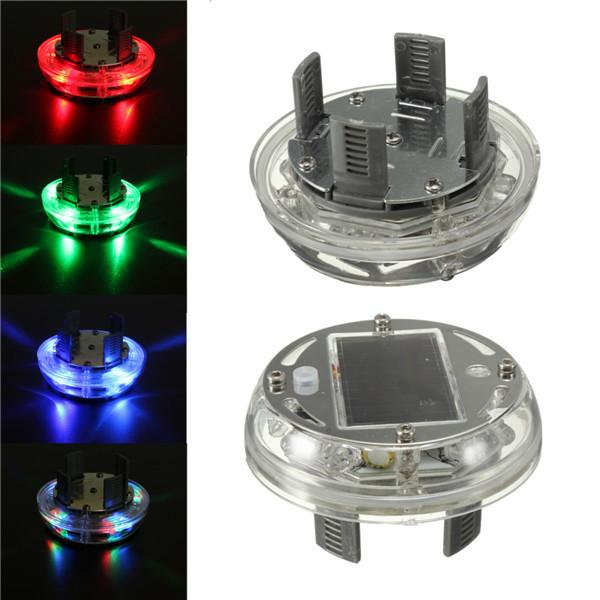 4PCS/Lot 4 Modes 12 LED Car Auto Solar Energy Flash Bright Wheel Tire Rim Light Lamp Decoration 1999-2013 Auto Warning Light