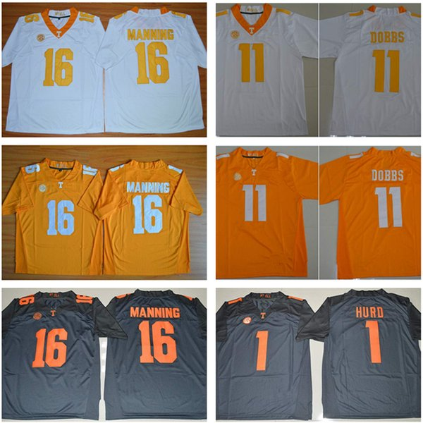 new concept e685e a2892 ncaa jerseys tennessee volunteers 16 peyton manning gray ...