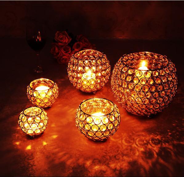 smalles size)candle holder11 crystal candlestick wedding candelabra crystal candle holder home decorative tealight holder votive decoration