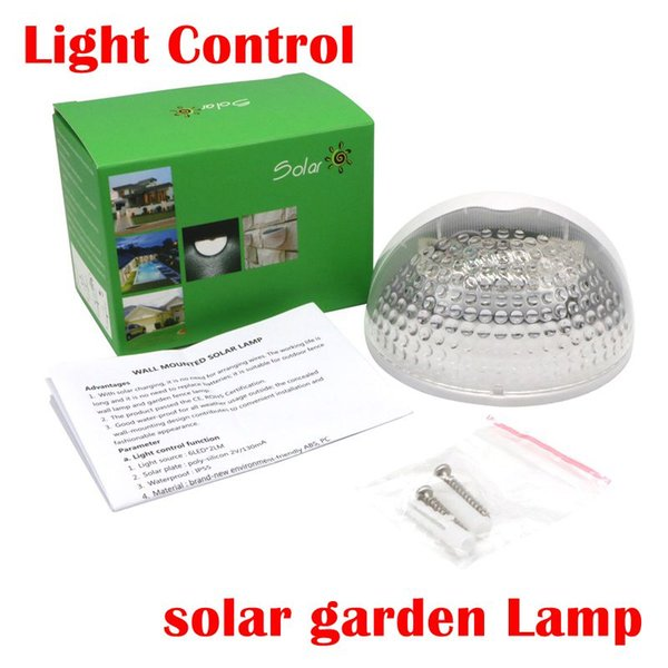 Solar Led Wall Lamp 6 LED Light Sensor Auto ON/OFF Waterproof Cool White Warm White for Stair Outdoor Post Garden Fence Yard