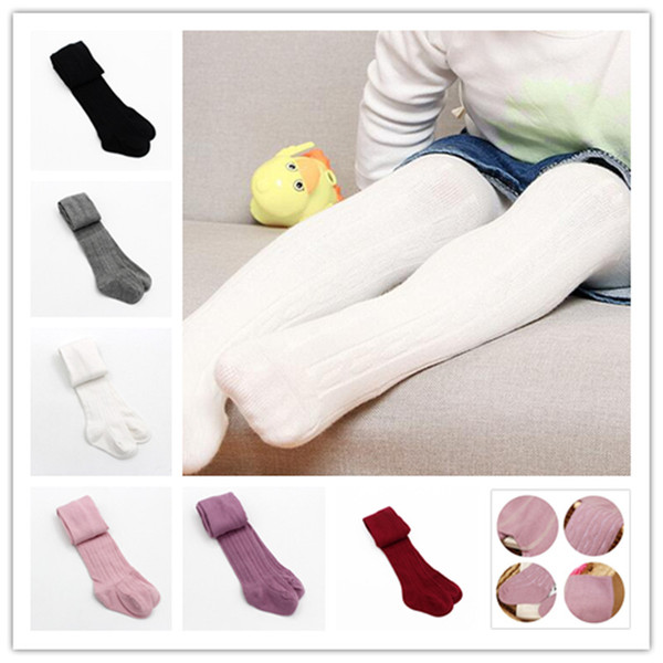 top popular Baby Girls braids Jacquard Pantyhose Ins hot Babyighs Infants Cotton Tights Kids Cute leggings stocking 6colors 3sizes 2020