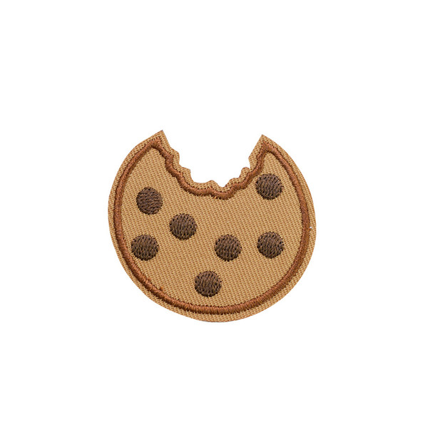 top popular 10PCS Cookie Embroidered Patches for Clothing Bags Iron on Transfer Applique Patch for Garment DIY Sew on Applique Accessories 2021