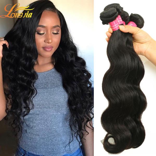 Factory Human Hair Weave Bundles Extension Brazilian Body Wave Hair Unprocess Natural Color Human Hair Body Wave Machine Double Weft