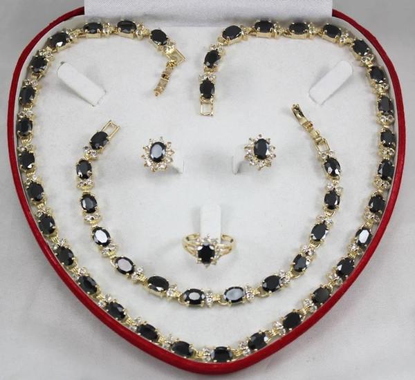 Set di gioielli per donne choker all'ingrosso di gioielli da donna per le donne anime verde giada argento crystl orecchino bracciale collana anello