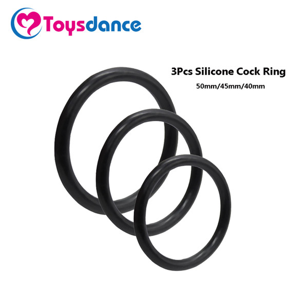 Toysdance 3Pcs European Size Silicone Cock Rings Adult Sex Toys Flexible Lasting Penis Ring Erotic Sex Products For Men Diameter 17420