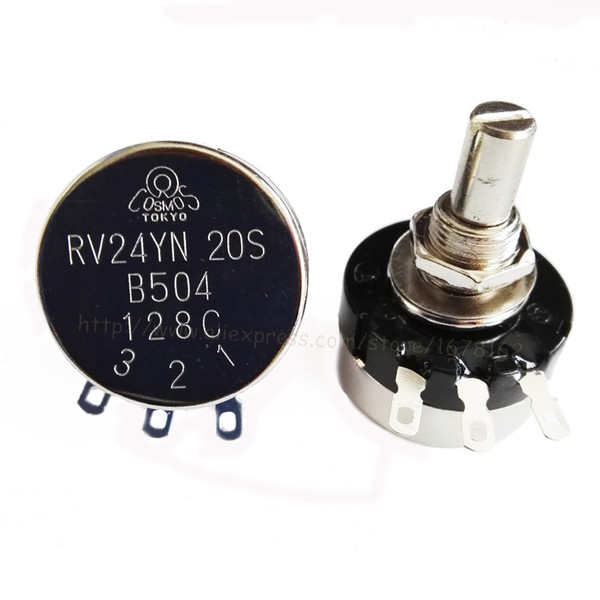 2pcs all'ingrosso / lot RV24YN20S B504 500K ohm resistenza regolabile singolo anello potenziometro pellicola di carbonio