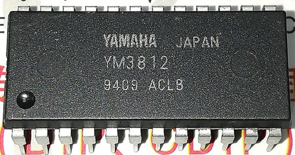 YM3812 . FM OPERATOR TYPE L 2 / dual in-line 24 pin plastic package / Electronic Component . PDIP-24 . integrated circuit IC