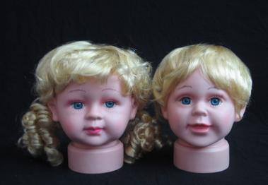 Professional kids hairdressing head doll head hair styling baby mannequin head for wigs boys and girls PVC YZX 012