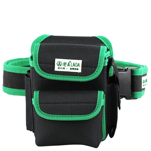 Wholesale-LAOA Multifunction Tool Bag 600D Double Layers Oxford Fabric Repair Bags Waist Pack Bag For Electrician Household With Belt