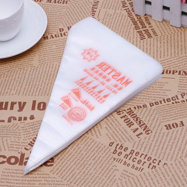 New 100Pcs/Pack Small Size Disposable Piping Bag Icing Fondant Cake Cream Decorating Pastry Tip Tool-Y102