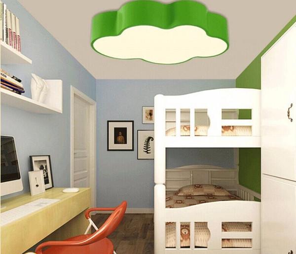 Großhandel LED Cloud Kinderzimmer Beleuchtung Kinder Deckenleuchte Baby  Deckenleuchte Mit Gelb Blau Rot Weiß Farbe Für Jungen Mädchen Schlafzimmer  ...