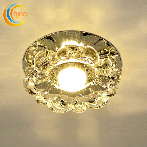 top popular Crystal porch light Corridor Light Dream Color Mask Crystal Led Ceiling Lamp 3W Led Down Light Spotlight 3W 5W AC85-265V Bedroom Cabinet 2019
