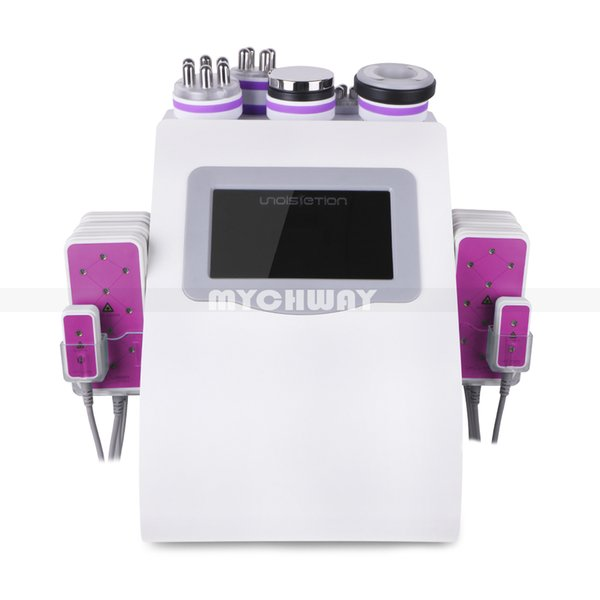 top popular New Promotion 6 In 1 Ultrasonic Cavitation Vacuum Radio Frequency Lipo Laser Slimming Machine for Spa 2020