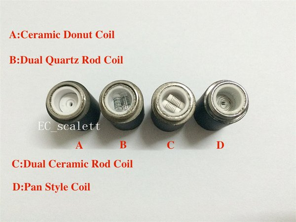 Skillet Atomizer coil quartz Skillet Ceramic Rod Coils Wax ceramic donut Coil Head for replacement Skillet Wax tank Dual Coil E Cigarette