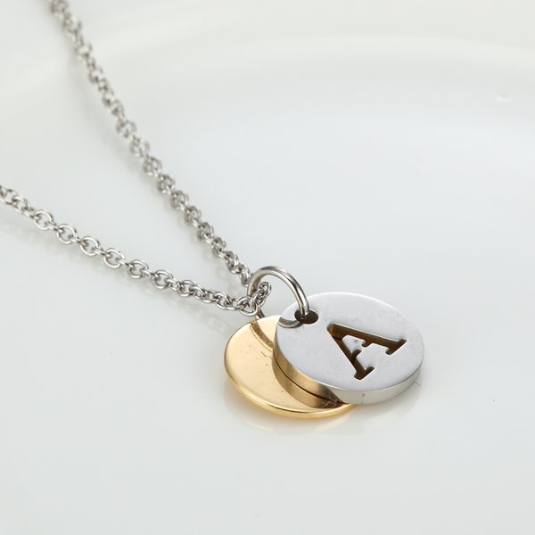 Letter necklaces pendants alfabet initial necklace stainless steel letter necklaces pendants alfabet initial necklace stainless steel choker necklace women jewelry kolye collier as christmas mozeypictures Choice Image