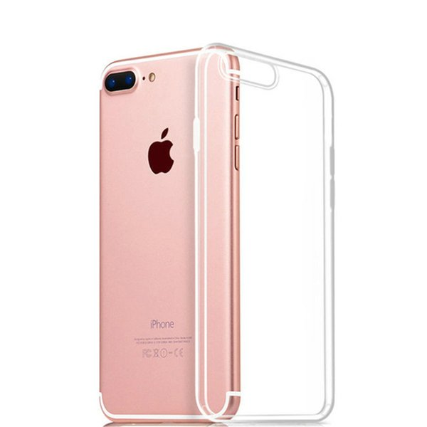 Ultra-Thin Soft TPU Phone Cases 0.3mm Transparent Clear For Iphone 7 Plus 6S Plus S6 S8 Plus S7 Edge Note 5