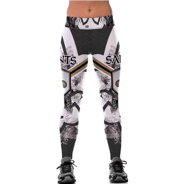Kadınlar için ucuz toptan spor tayt yüksek bel 3d baskı ekose spor ince örme punk tarzı moda uzun yoga pantolon sonbahar aktif