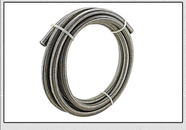 """top popular AN8 8AN AN -8 (11.2MM   7 16"""" ID) STAINLESS STEEL BRAIDED FUEL OIL HOSE 5 METER 5M 2021"""
